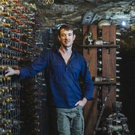 Nathan Kinzbrunner Giaconda Wines winery cellar