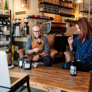 Blynzz Coffee Roasters Weathercraft Wine Beechworth home virtual Raquel