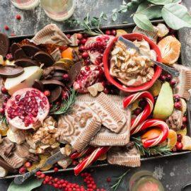 Christmas treats spread platter
