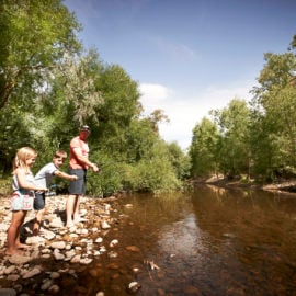 Family Fishing on the King River at Edi