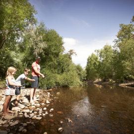 Family Fishing on the King River at Edi