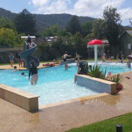 The park's new solar heated pool