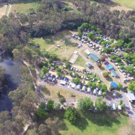 Aerial View Painters Island Caravan Park