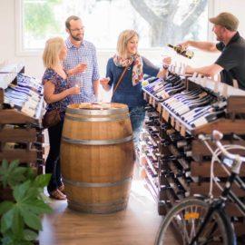 Wine tasting at Alpine Cellars