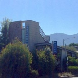 KVHS Museum with Mt Bogong in the distance