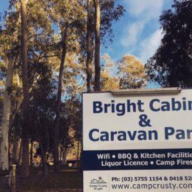 Bright Caravan Park camping cabins accommodation wandiligong riverside porepunkah