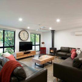 Light filled open plan living.  New furniture and flat screenTV