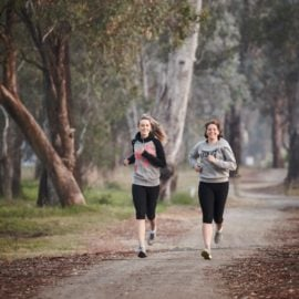 Joggers on shared path
