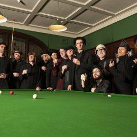 Spooky men at pool