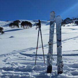 Pair of Ski's in snow