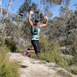Runner enjoying the Bright Alpine Climb